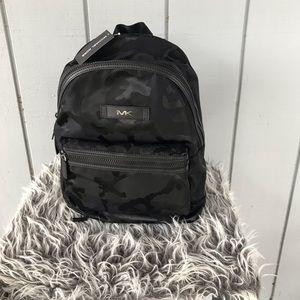 NWT MK Unisex Camo Nylon Jacquard Backpack